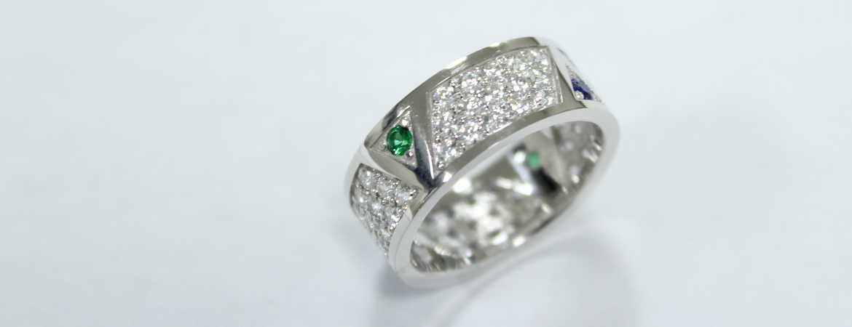 Trinity Pave ring
